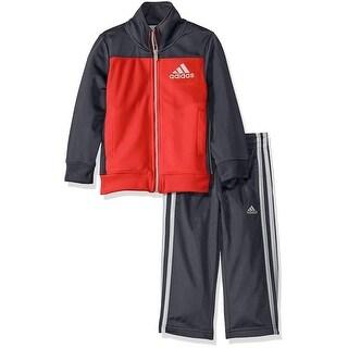 Adidas Boys 2T-4T Qualify Contrast Tricot Set - Lime
