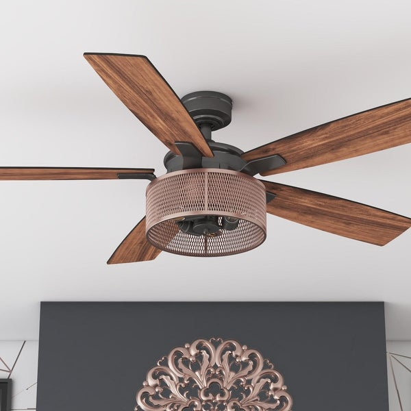 """52"""" Honeywell Carnegie Indoor Ceiling Fan with Remote, Copper. Opens flyout."""