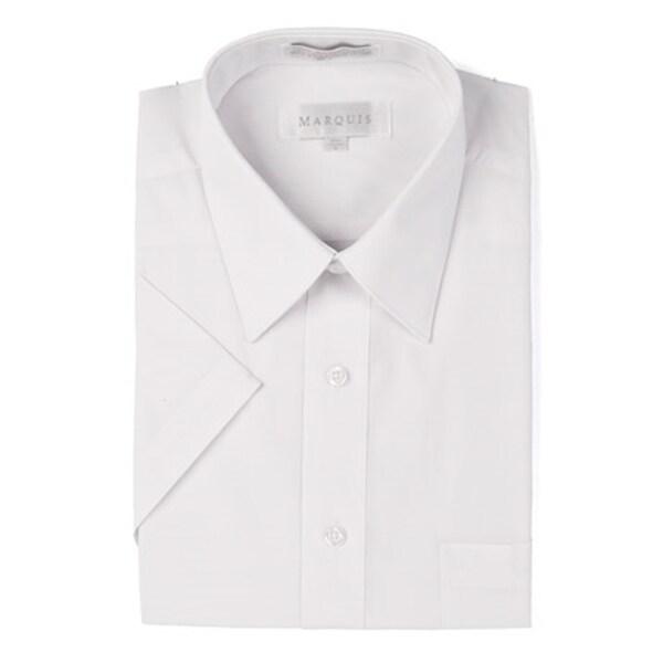Marquis Men's Short Sleeve Regular Fit Dress shirt - S to 4XL. Opens flyout.