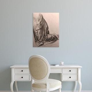 Easy Art Prints Leonardo da Vinci's 'Drawing of drapery' Premium Canvas Art