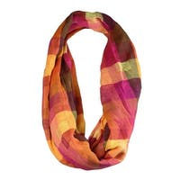 Echo Design Women's Dyed Check Pattern Infinity Scarf - os