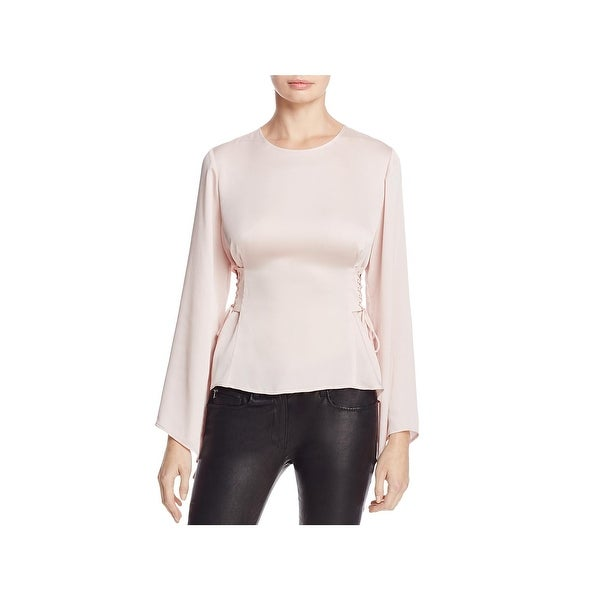 Shop Vince Camuto Womens Blouse Sheer Bell Sleeves Free Shipping