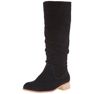 Charles by Charles David Womens Joan Riding Boots Suede Mid-Calf