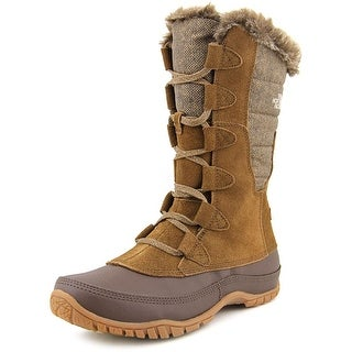 The North Face Nuptse Purna Men Round Toe Suede Brown Snow Boot
