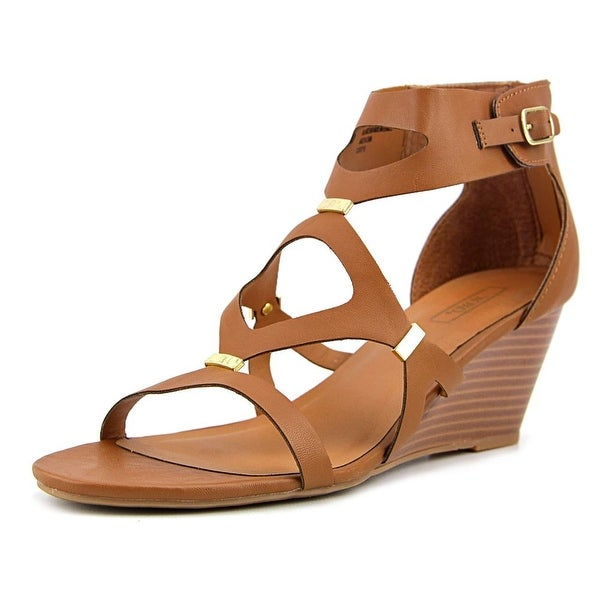 XOXO Sees Women Open Toe Synthetic Tan Wedge Sandal