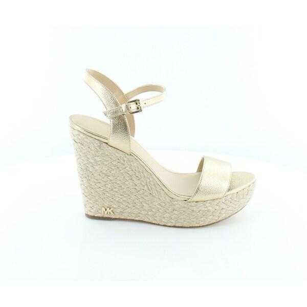 49e47169245d Shop Michael Kors Jill Wedge Sandals Women s Sandals Pale Gold - 10 ...