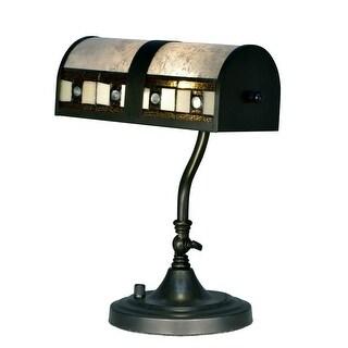 "14"" Black Decorative Desk Accent Lamp"