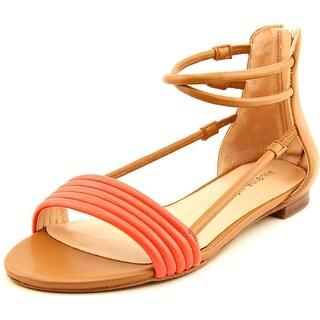 Julianne Hough Olexa Women Open Toe Synthetic Tan Gladiator Sandal