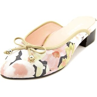 Taryn Rose Faigel Women Round Toe Canvas Pink Mules
