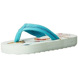 Hanna Andersson Girls Katie Metallic Flip-Flops - 9-10 medium (b,m)