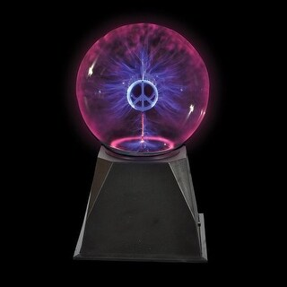 "Rhode Island Novelty 8"" Peace Plasma Lamp"