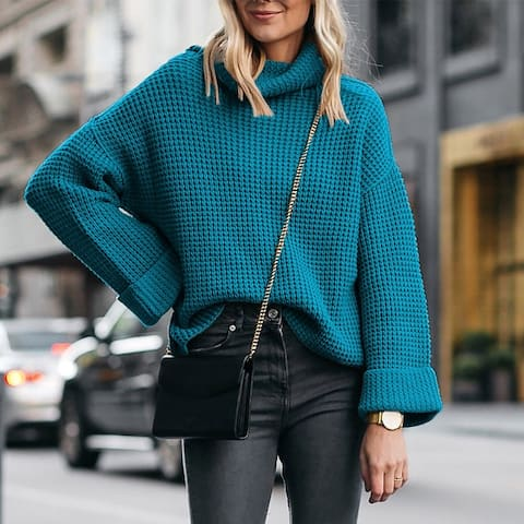 High Collar Loose Women's Sweater