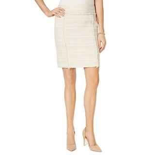 Kasper Petite Fringe Tweed Pencil Skirt - 2p