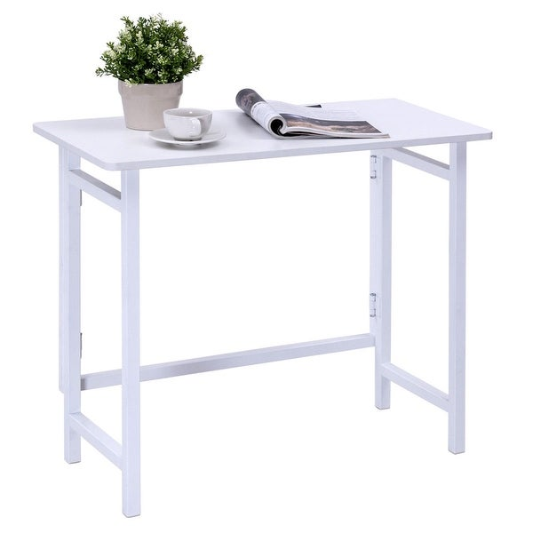 Gymax Folding Table Computer Desk PC Laptop Writing Table Home Office  Workstation