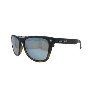 Peppers Polarized Sunglasses Spitfire Black/Tort w/Blue Mirror Polarized Lens