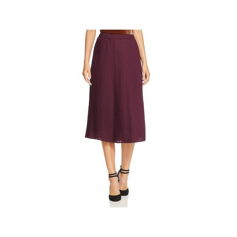 Eileen Fisher Womens Pleated Skirt Office Pull On