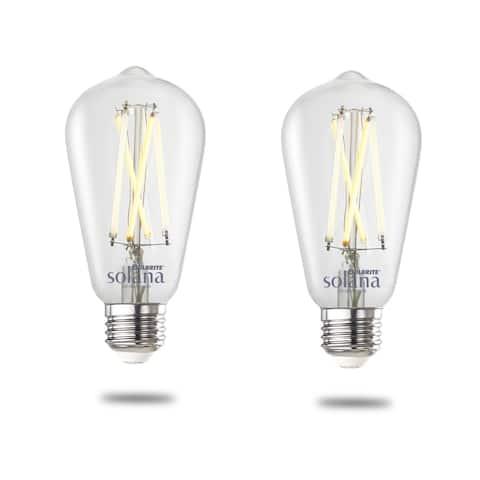 Bulbrite Solana Smart LED ST18 60W Equivalent Tunable WIFI Light Bulb, Clear, 2PK - 2200K-6500K