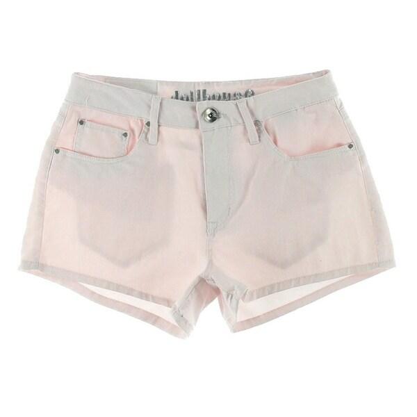 Dollhouse Womens Juniors Denim Shorts High Waist Stretch