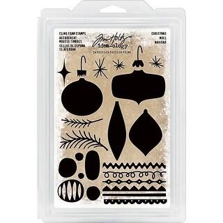 Idea-Ology Cling Foam Stamps 24/Pkg-Christmas Ornaments