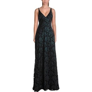 ABS Collection Womens Evening Dress Lace Metallic