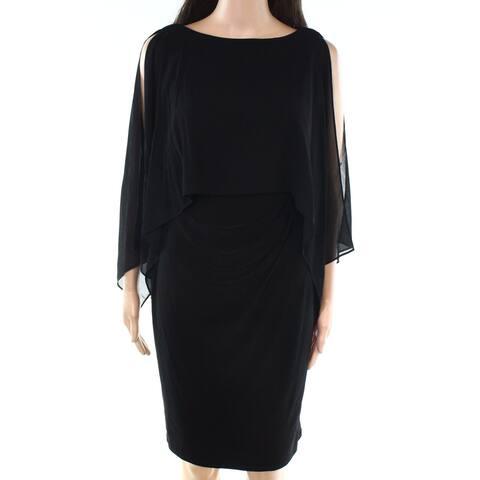 Lauren by Ralph Lauren Womens Petite Overlay Sheath Dress
