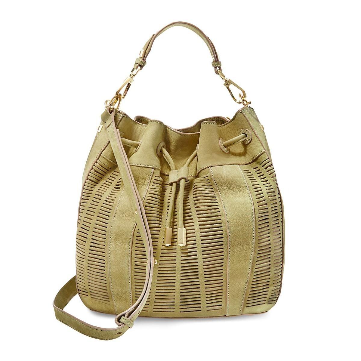 Shoulder Handbag Leather Lazer Cut