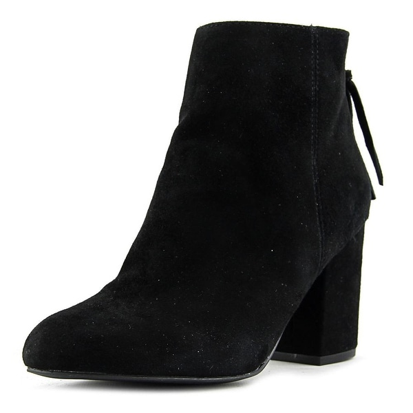 Steve Madden Cynthia Women Round Toe Leather Black Bootie