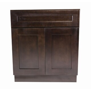 "Design House 561977 Brookings 30"" Double Door Base Cabinet with Drawer - ESPRESSO - N/A"