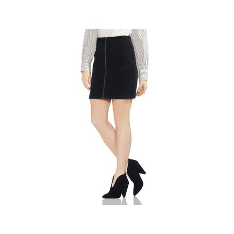 Vince Camuto Womens Mini Skirt Zip Front Pockets