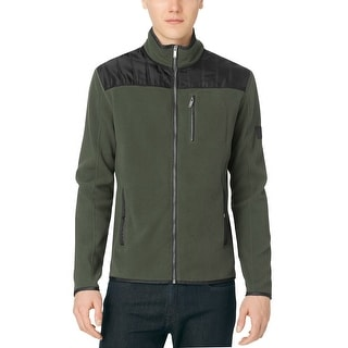 Calvin Klein Jeans Full Zip Fleece Jacket Kale Green X-Large