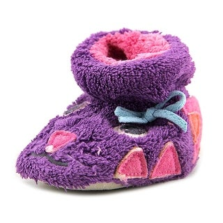Acorn Easy Critter Kitty Infant Round Toe Synthetic Purple Slipper
