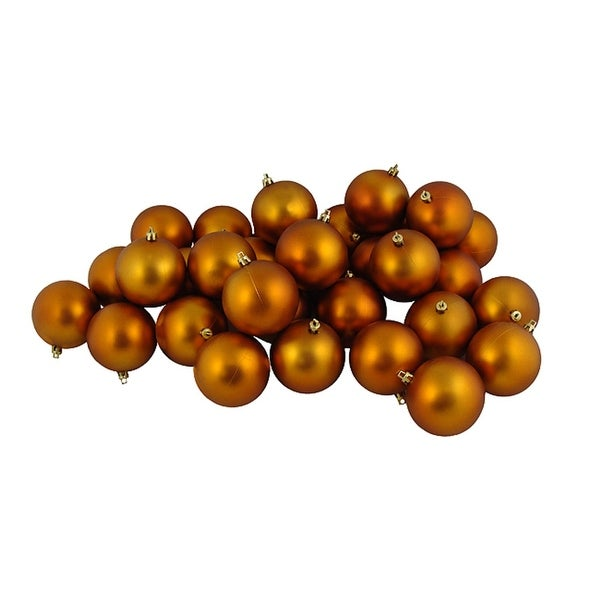 "12ct Matte Burnt Orange Shatterproof Christmas Ball Ornaments 4"" (100mm)"