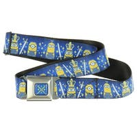 Despicable Me Seatbelt Belt - Royal British Invasion-Holds Pants Up