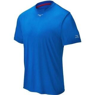 Mizuno Men's Short Sleeve Compression Crew Top Shirt (Option: Purple)
