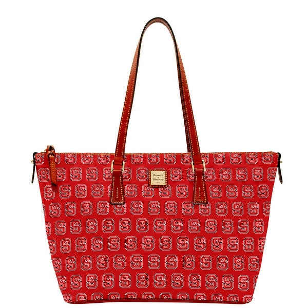 Dooney & Bourke NCAA NC State Zip Top Shopper (Introduced by Dooney & Bourke at $248 in Aug 2015) - Red