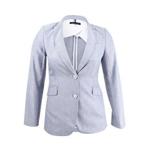 Tommy Hilfiger Women's Two-Button Oxford Blazer - Midnight