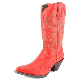 Durango Head West Crush Pointed Toe Synthetic Western Boot