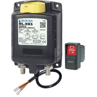 """""""Blue Sea Systems 32566b Blue Sea Systems ML-RBS 24V DC 500A Remote Battery Switch with Manual Control"""""""