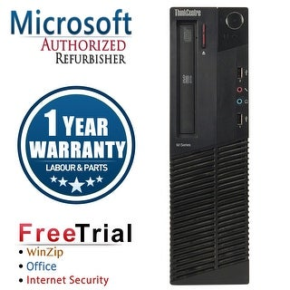 Refurbished Lenovo ThinkCentre M81 SFF Intel Core I5 2400 3.1G 8G DDR3 2TB DVD Win 7 Pro 1 Year Warranty - Black