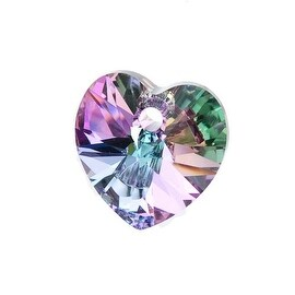 Swarovski Elements Crystal, 6228 Heart Pendants 10mm, 6 Pieces, Vitrail Light