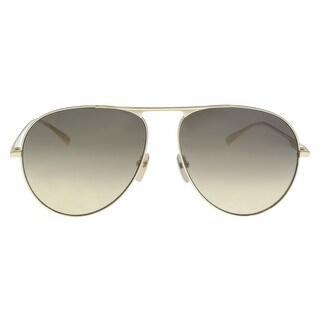 Gucci GG0334S 001 Brown Aviator Sunglasses - 60-15-145