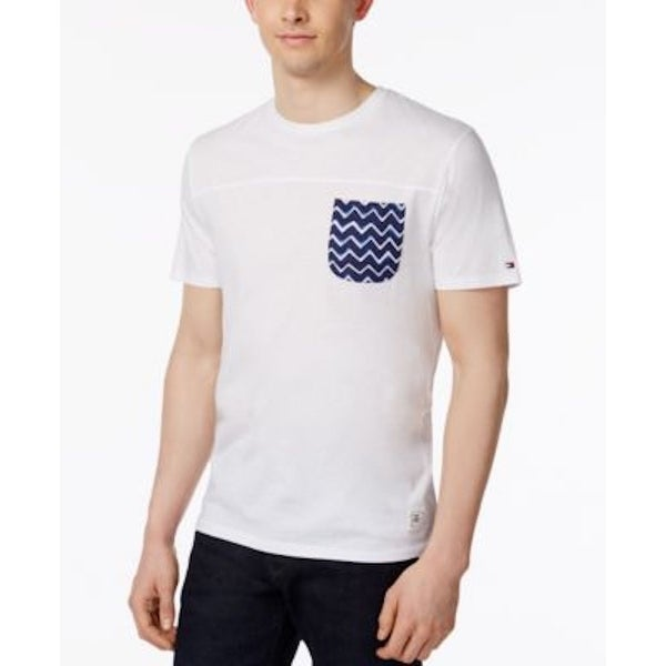 00628e284 Shop Tommy Hilfiger Men's Pocket Cotton T-Shirt Bright White Size Extra  Large - xL - Free Shipping On Orders Over $45 - Overstock - 20575522