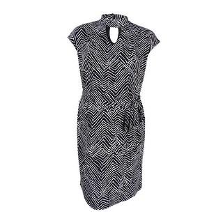 INC International Concepts Women's Plus Size Chevron-Print Shift Dress - zig zag