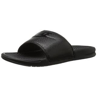 Nike Men's Benassi Just Do It Slide Sandal, Black|https://ak1.ostkcdn.com/images/products/is/images/direct/ec612a69f743ce1304001315fbc8a4a1cbdddf3d/Nike-Men%27s-Benassi-Just-Do-It-Slide-Sandal%2C-Black.jpg?impolicy=medium