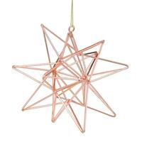 Rose Gold Geometric Star Christmas Ornament - Pink