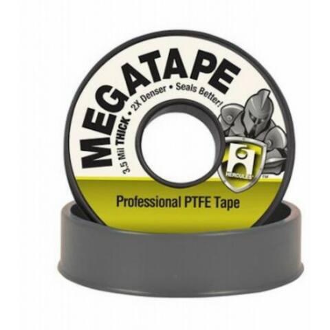 """Hercules 15050D Megatape Professional PTFE Tape, Gray, 35 Mils, 1/2"""" x 260'"""