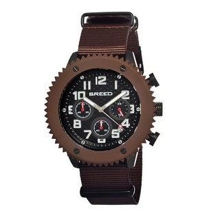 Breed Decker Men's Quartz Chronograph Watch, Nylon Strap, Luminous Hands