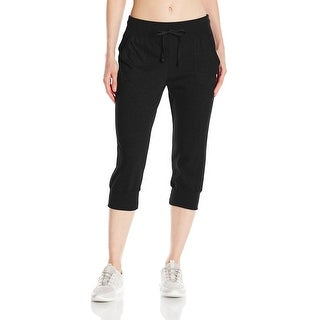 Champion NEW Black Womens Large L Stretch Jersey Banded Knee Athletic Pants 856
