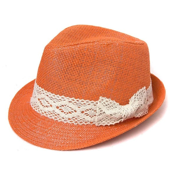 d6b4de5f4bf29 Shop The Hatter Company Tweed Classic Cuban Fedora w  Lace Band - Free  Shipping On Orders Over  45 - Overstock - 20669707