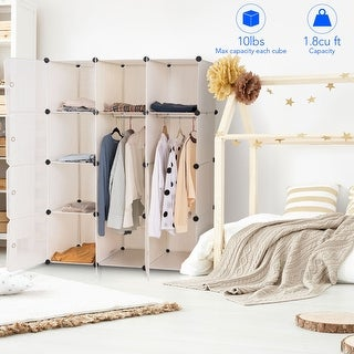 Link to Costway DIY 12 Cube Portable Closet Wardrobe Storage Organizer Clothes Similar Items in Laundry